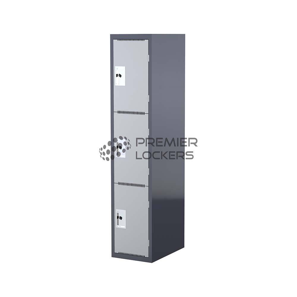 dark grey heavy duty metal locker