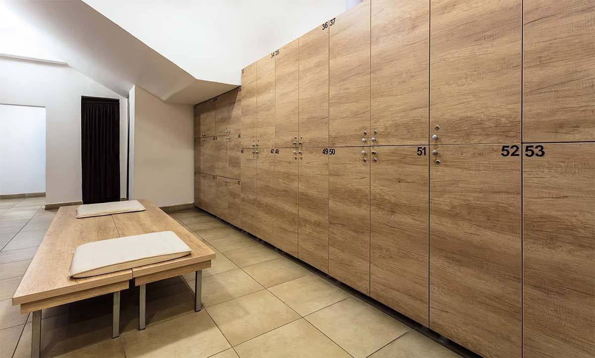 Modern Wooden lockers and wooden chair